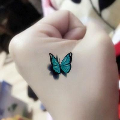 Blue Butterfly Tattoo Sticker Waterproof Ladies Permanently Cover Scars Sexy Tattoo Paper For Arm Sticker Temporary Halloween Tattoos Temporary Kids