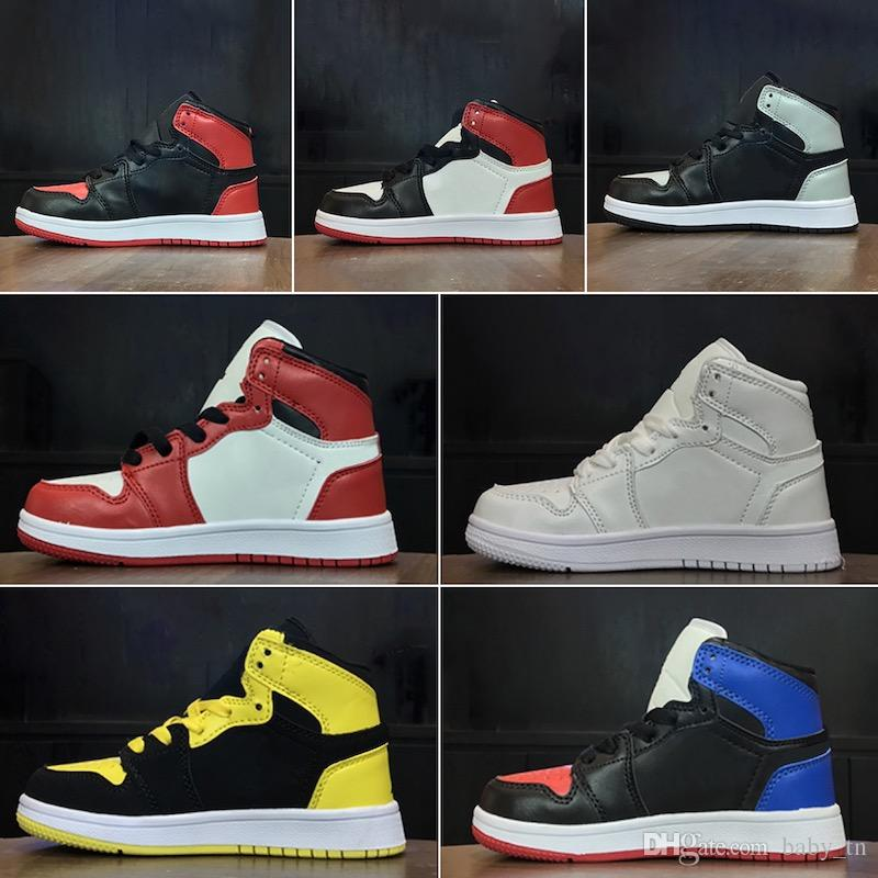 Wholesale hot children's shoes J 1 1s cheap store Top Quality kids Basketball shoes price free shipping sales 28-35