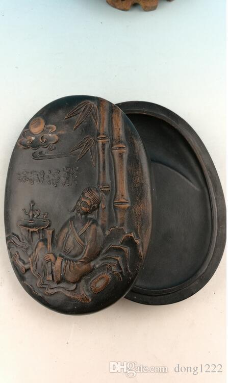 Piedra de tinta famosa china, baldosas de arcilla piedra de tinta y tallas exquisitas Estatua