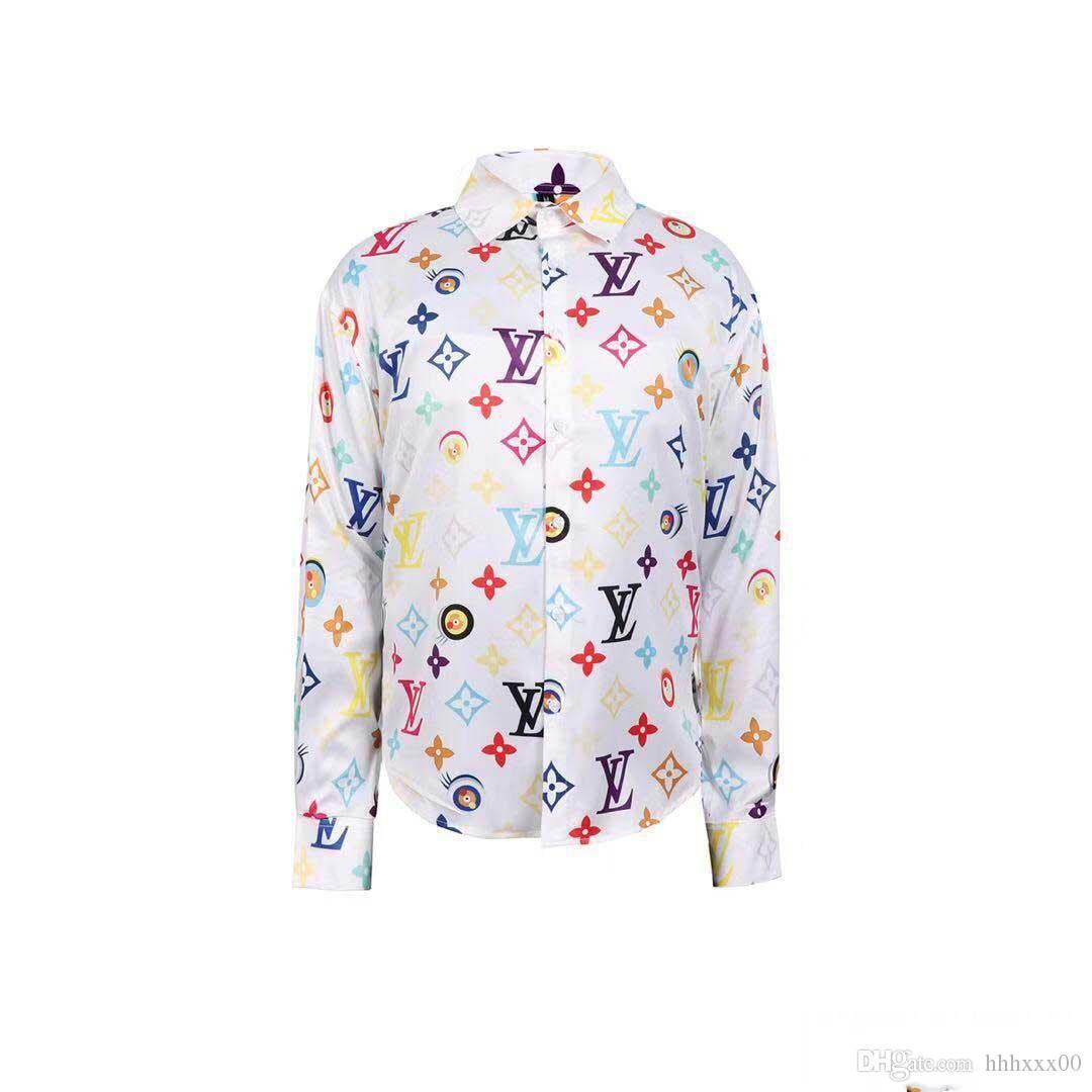 marchio aziendale Hot American sottile stampa ape Piccolo, Uomini camicie a maniche lunghe, il tempo libero uomini sulle spine, Medusa uomini camice bianco e nero