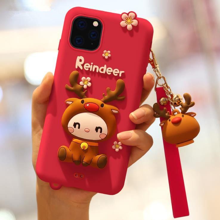 Designer Phone Case de luxe de cas de téléphone iphone 11 Pro Max Huawei P30 Creative Cartoon protection en silicone cas