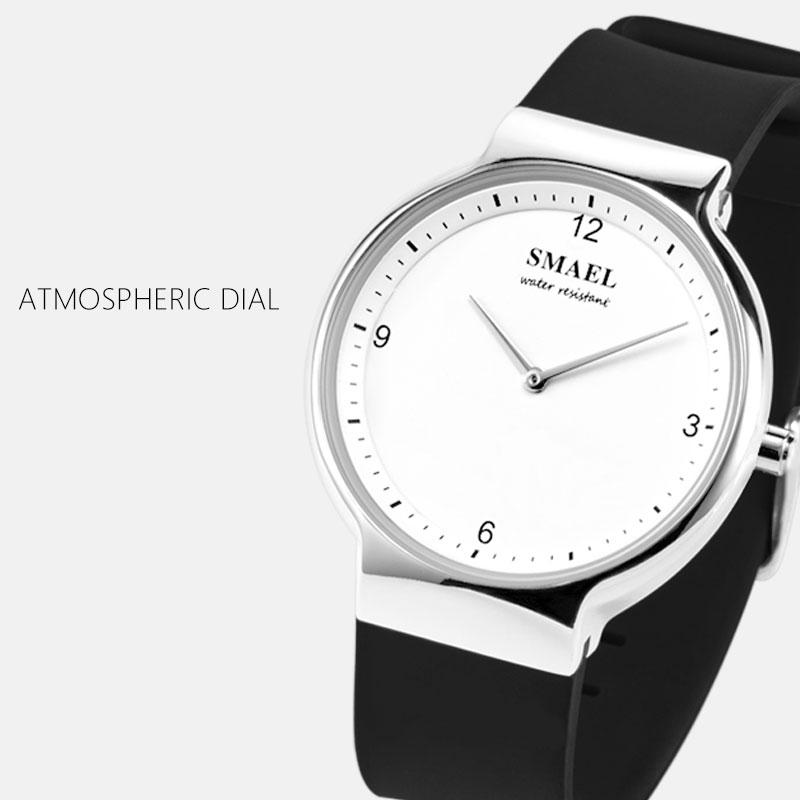 Smael Couple Amoureux Montres Horloge numérique Femmes Montre Homme Montre Couple étanche avec date 1835Gold montres à quartz en silicone