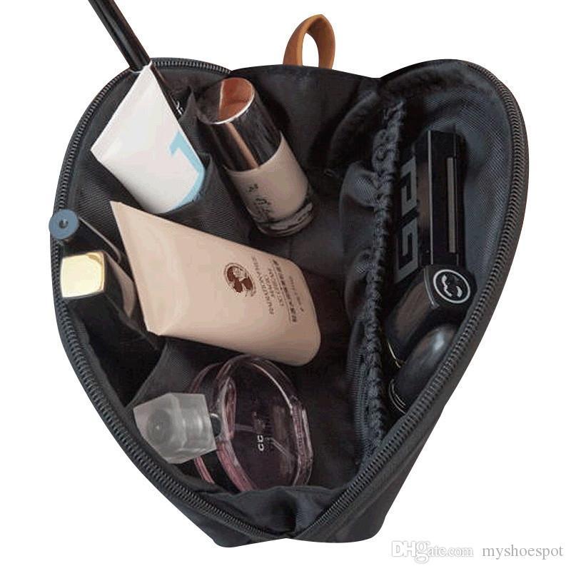 Portable Travel Cosmetic Bag Shell Necessaries Make Up Case Organizer Beauty Toiletry Bag Korean Solid Color Women Mini Handbag #110199