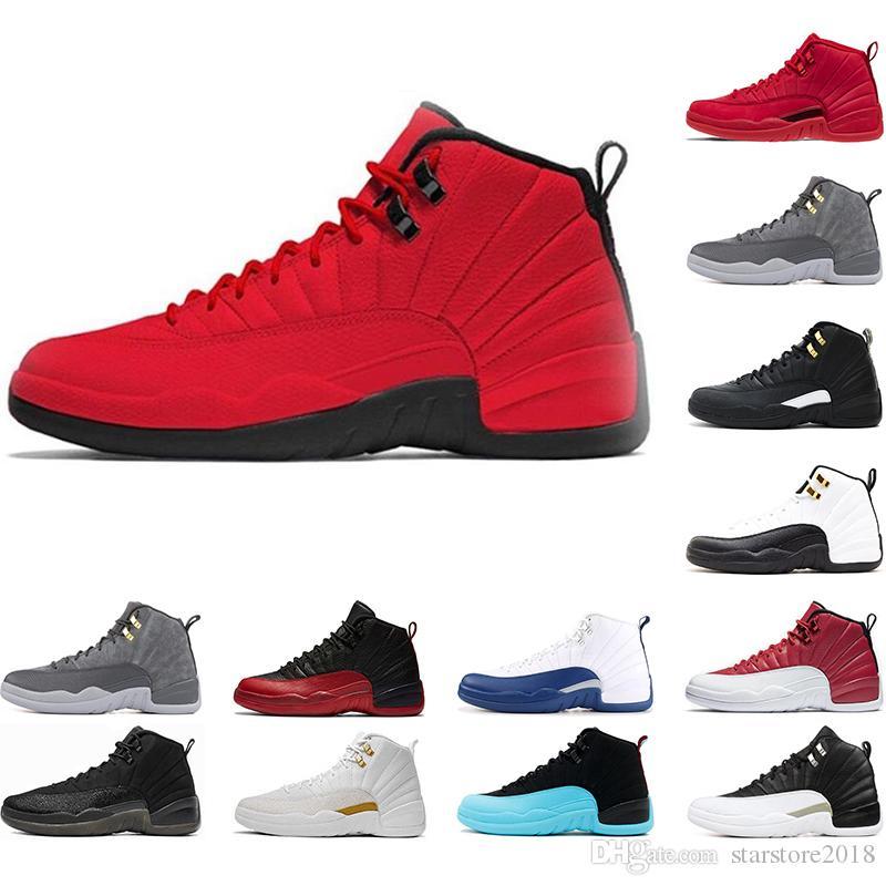 Nike Air Jordan 12 12s Hot 12 12s Hombres Zapatillas De Baloncesto  Zapatillas De Deporte Negro Blanco Taxi Gym Rojo Gamma Azul 12 12s Para  Hombre ...