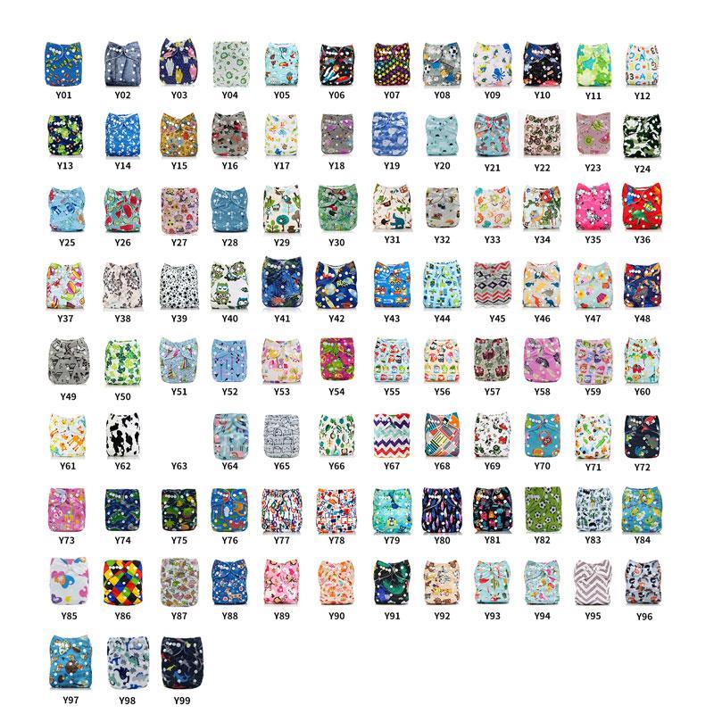 Impermeabile del bambino [Mumsbest] lavabile del panno del bambino Pannolino Pocket Stampa pannolini riutilizzabili panno pannolino Suit Cover 0-2years 3-15kg