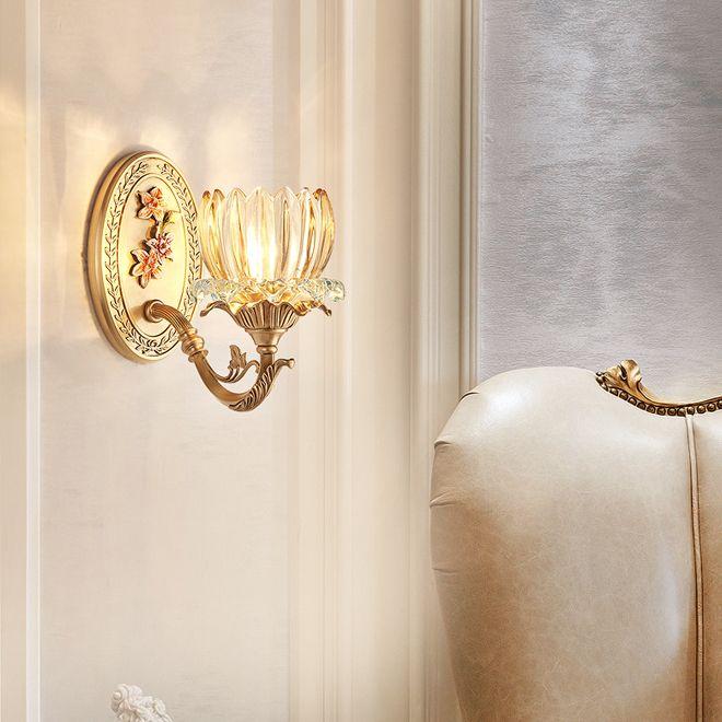 New sconce design high-end iluminação de parede cobre sconce retro lâmpadas led wall Europeia montado luz de cabeceira quarto varanda escada