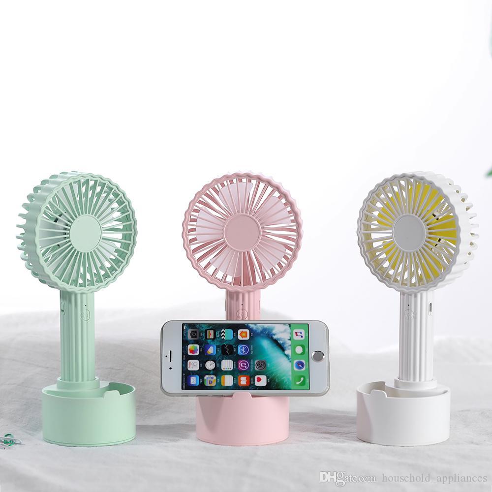 Handheld Fan Cactus Handheld USB Charging Mobile Phone Bracket Fan Student Desktop Fan Silent Summer Portable Small Fan