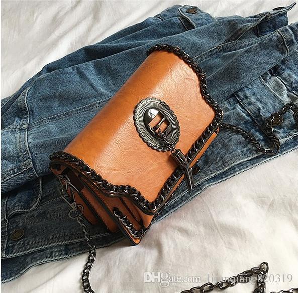 Popular classic large capacity handbags new 2019 net red high-end literary tide package shoulder bag hand bag Messenger bag free shopping