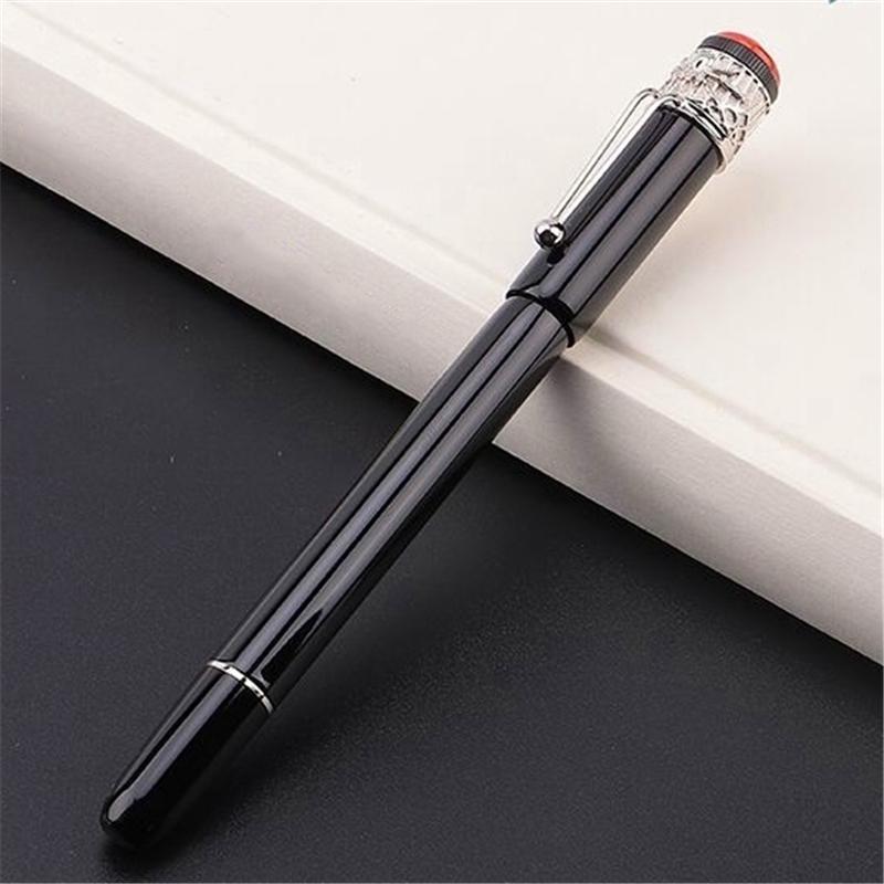 Noir de haute qualité Noir - Stylo à bille d'araignée en métal rouge / stylo à bille à rouleaux de stylo à boule de bureau de bureau de bureau de la mode calligraphie de mode