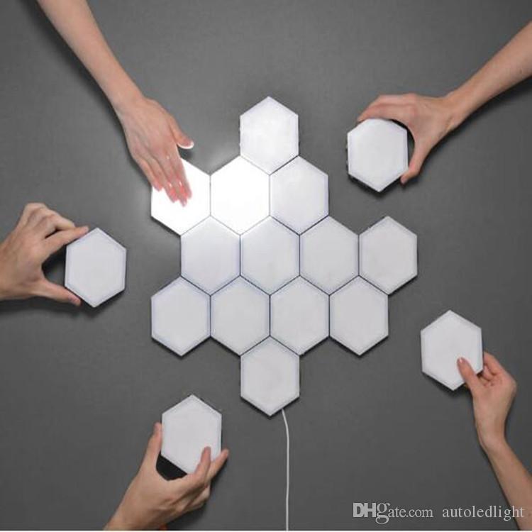 DIY Honeycomb Light Freely Splicing Touch-sensitive LED Honeycomb Wall Lamp DIY Quantum Lights LED Night Light home Corridor Aisle decor