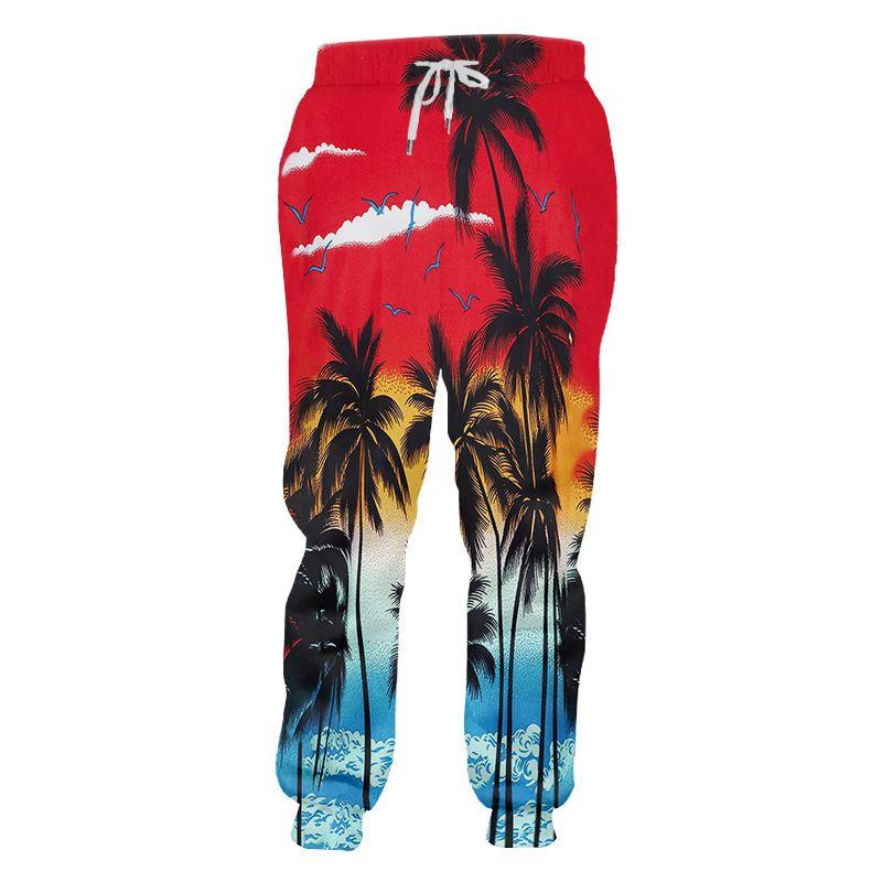Pantalon unisexe Gym Jogger nouveauté hawaïenne graphique 3D Baggy Sweatpants Hommes Femmes Plage Sport Casual Pantalons actifs sur mesure S-6XL