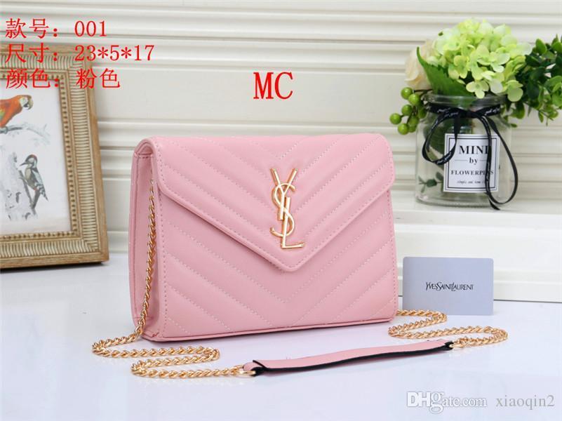 19 2.019 novas bolsas de alta qualidade ombro luxo sacos bolsa bolsa de couro bolsa de marca bolsa de cor sólida