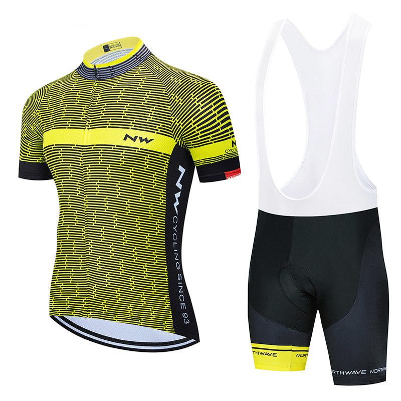 Nw Team 2020 Summer Cycling Jersey Suit Short Sleeve Tops Bib Shorts Set Mtb Bike Clothing Bicycle Uniformes Cycle Clothes