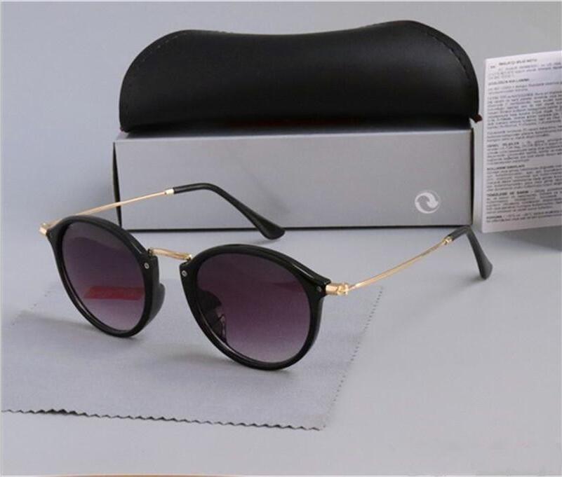 Top Fashion Classic Vinatge 2447 Runde Sonnenbrille Männer Frauen Markendesign Sonnenbrille Oculos De Sol Gafas eyewear 2019