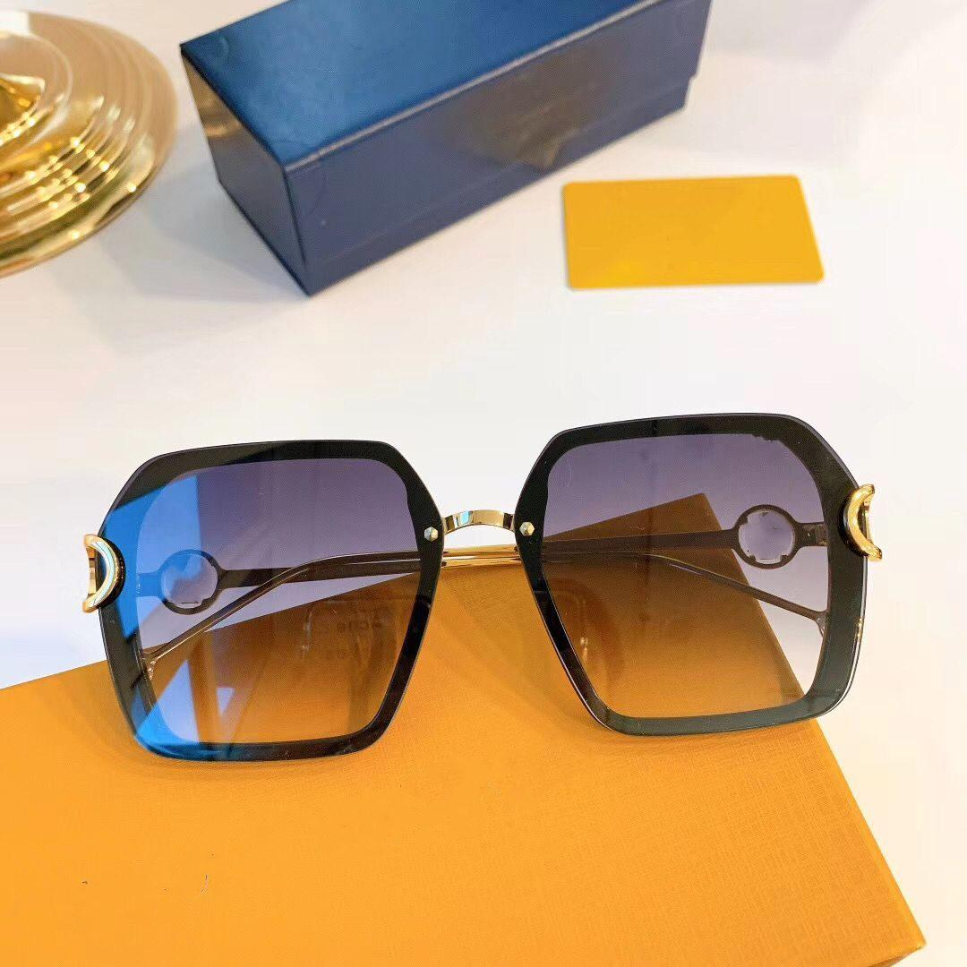 Lunettes de soleil d'été populaire 1233 femmes Designer carrée Style Rectangle Plein cadre Top Protection UV Qualité Venez avec le cas