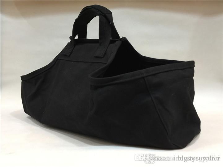 Tragbare Tasche im freien Picknick Tasche verdickt Tasche schwarz Brennholz Träger Zusammenklappbar einfach Laden und Schleppen