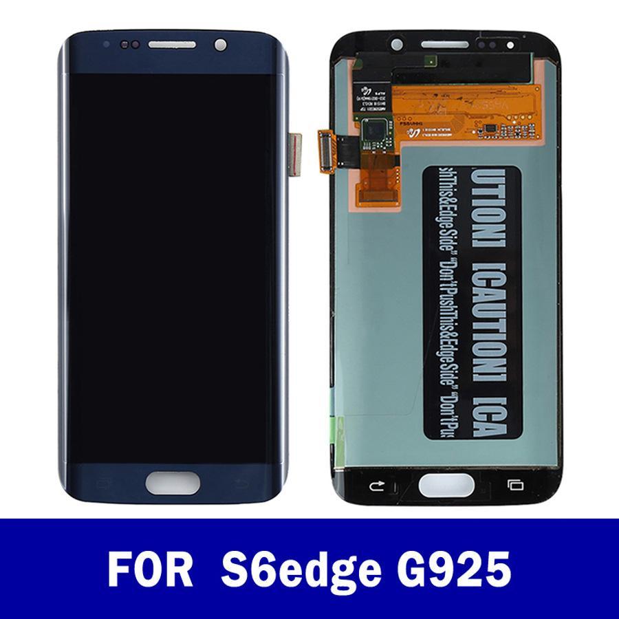 SAMSUNG Galaxy S6 S6EDGE G925 G925F Edge için Orjinal 5.1 inç LCD Gölge Ekran Ekran Dokunmatik Ekran Sayısallaştırıcı Değiştirme Yanık