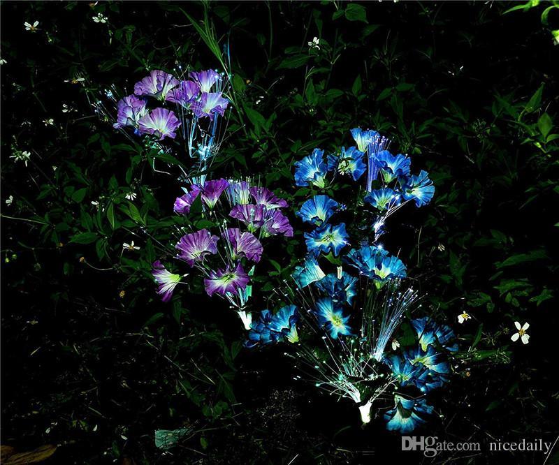 태양 정원 조명 야외 LED 장식 태양 꽃 스테이크 조명 정원 야드 파티오 잔디 경로 장식 색상 변경 도매