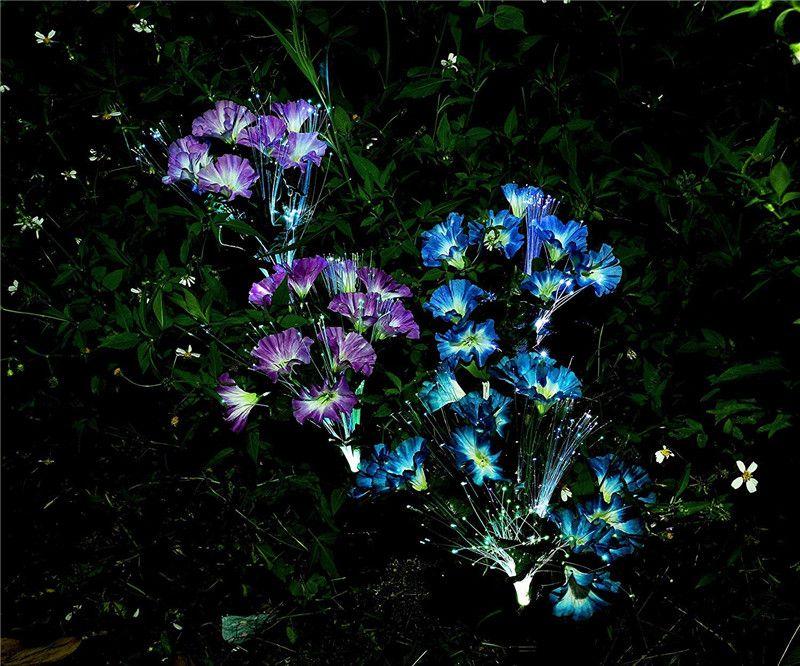 Luci del giardino solare esterna LED decorativi fiori solari luci a palo per giardino cortile patio percorso decorazione colore cambiare all'ingrosso