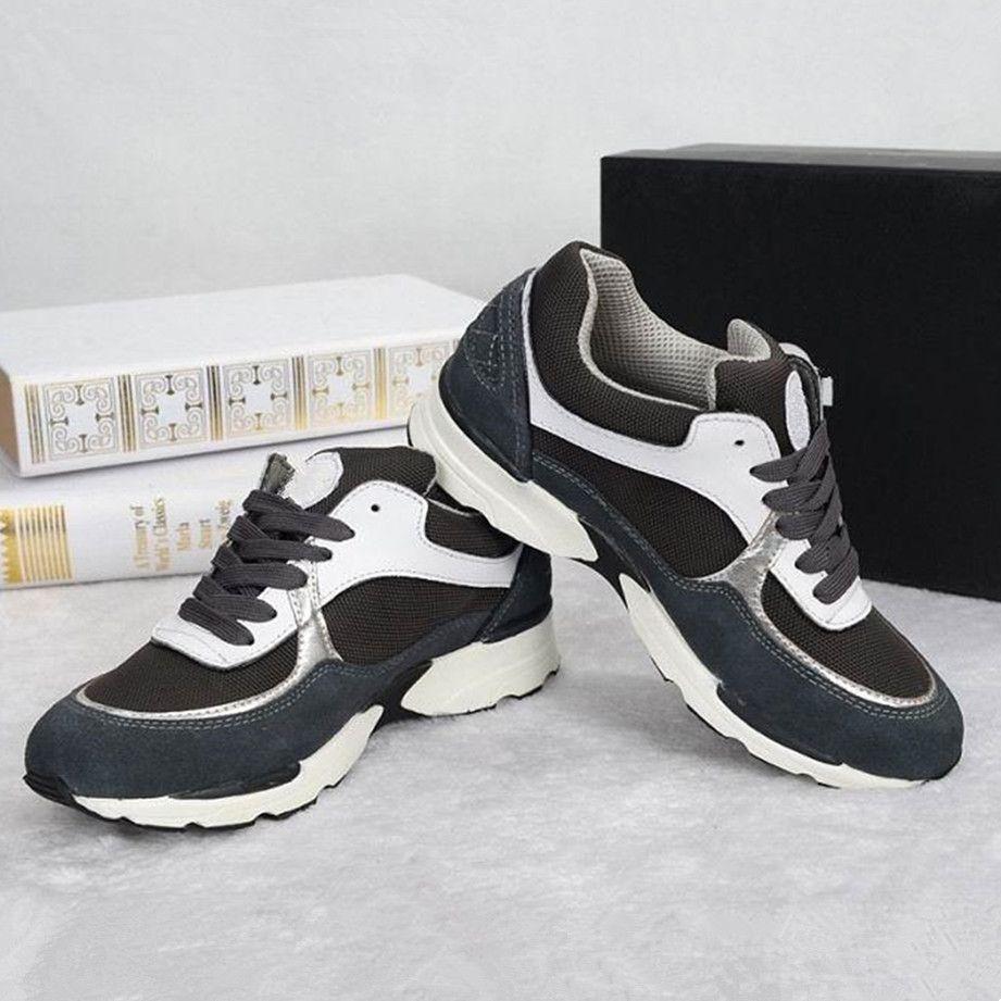 Hızlı Teslimat Yeni moda Bayanlar Sneakers ünlü Kadın severler dantel-up en kaliteli Kadın hakiki deri kadın rahat ayakkabılar marka