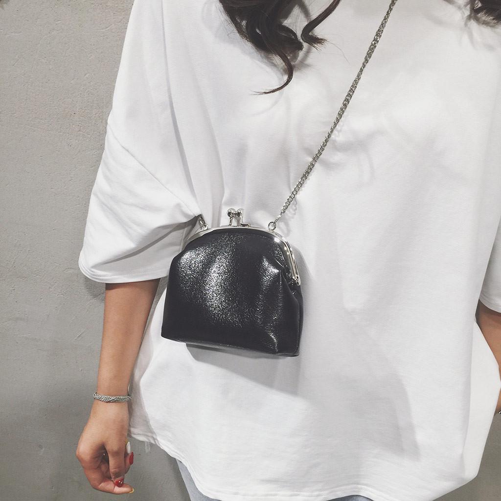 2019 новый женский сумка повседневная дикие плеча сумка летняя девушка сплошной цвет небольшой Crossbody сумки для женщин#40