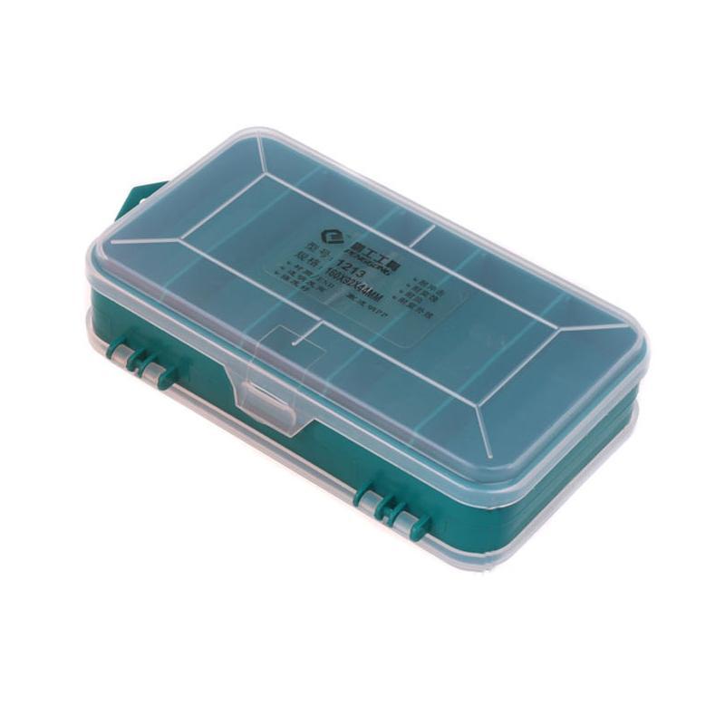 13 Grids Multifunktions-Tool Box Double-Side ToolBox Organisator-Aufbewahrungsbehälter Werkzeugkoffer Kleinteile Angeln Schmuck Container