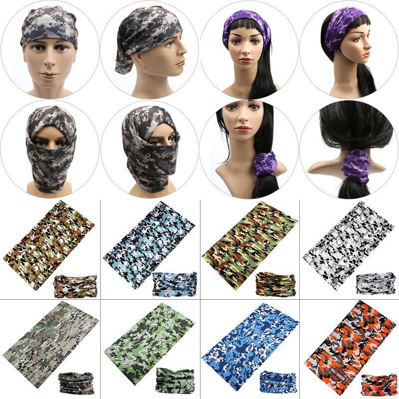Nuovo unisex donne degli uomini multicolori Magia Moda testa del fronte Maschera Buff Snood Copricapo moto in bicicletta tubo della sciarpa fascia C19011001