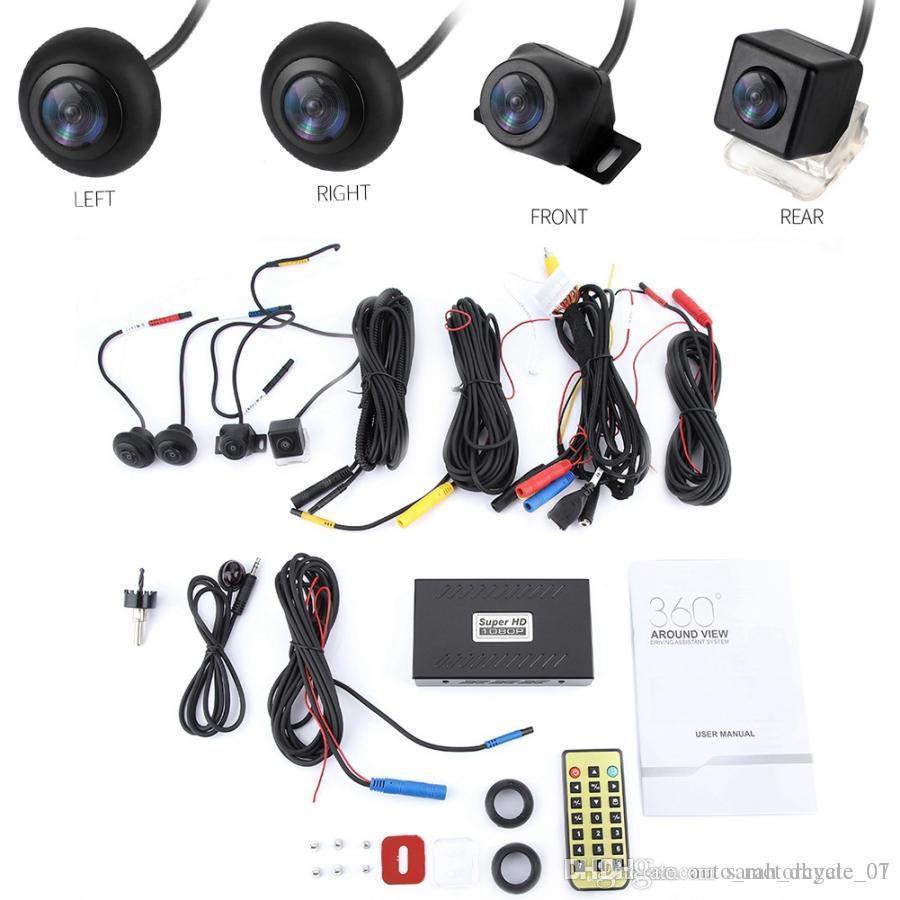 720P HD Auto-DVR 360 Surround View-Kamera-System Recorder-Auto-Zubehör Metall-Fernbedienung