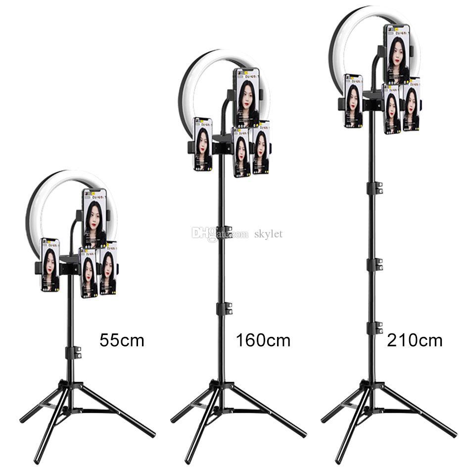 M26 10 inç LED Selfie Halka Işık ile Tripod Standı Canlı Stream YouTube Tiktok Vlog Dim Led Kamera Güzellik Ringlight