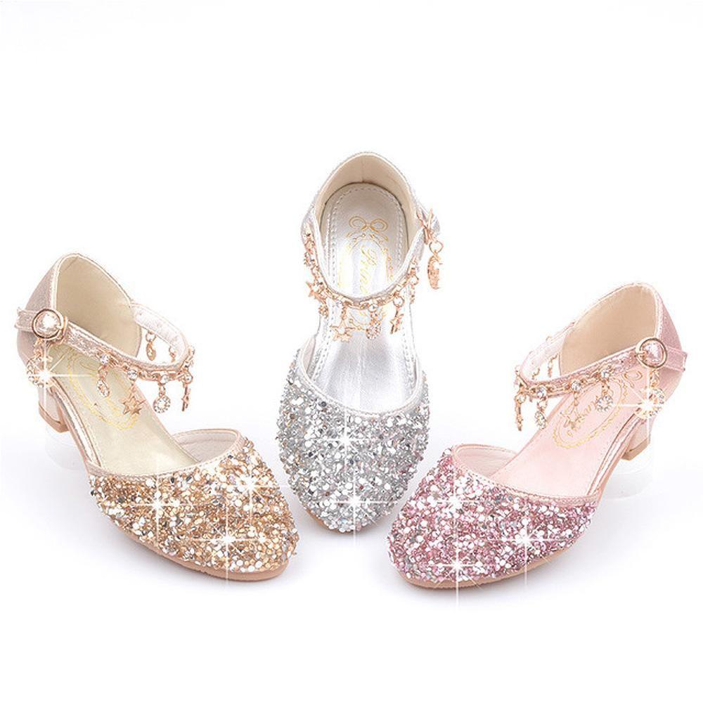 Kids Baby Glitter Shoes Little Girls