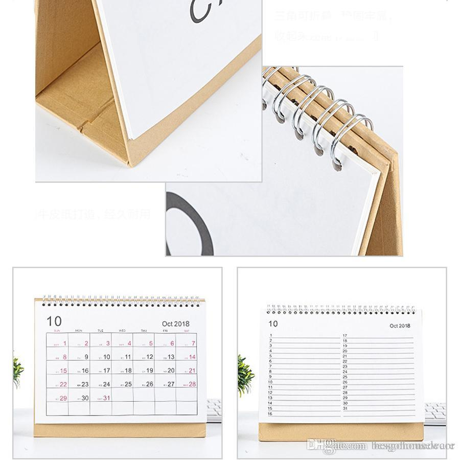 Writable Weekly Planner Monthly List Plan Daily Calendar 2019 Desktop Creative Office White Stand Simple 16.5*15.1cm Calendar BH0645 TQQ