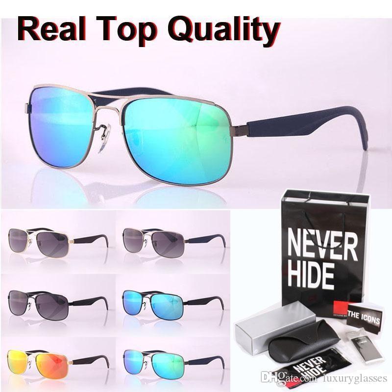 Diseñador de la marca de gafas de sol polarizadas de los hombres gafas de sol de las mujeres de la aleación del marco de la manera con la caja original, paquetes, accesorios, todo!