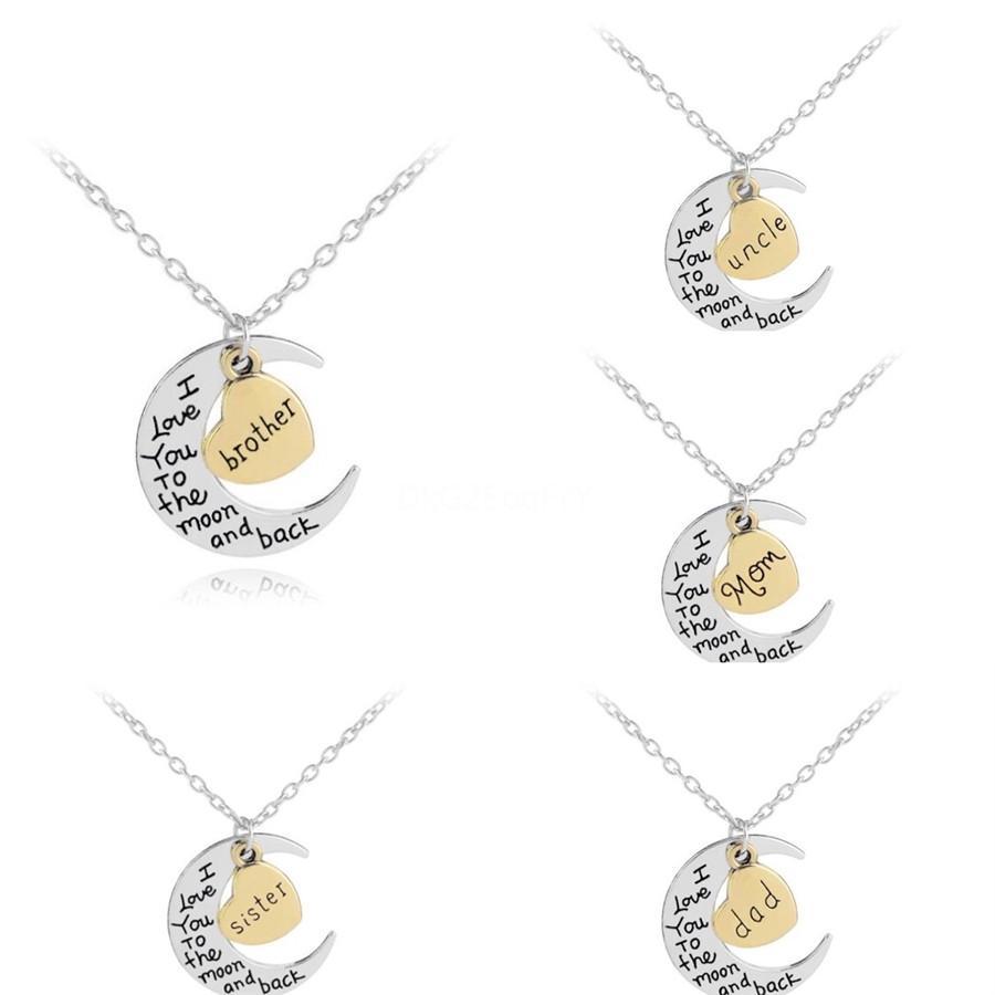 Les femmes de verrouillage collier pendentif avec timbre Lettre Collier de verrouillage cadeau pour l'amour Petite amie Top Bijoux Qualité # 359