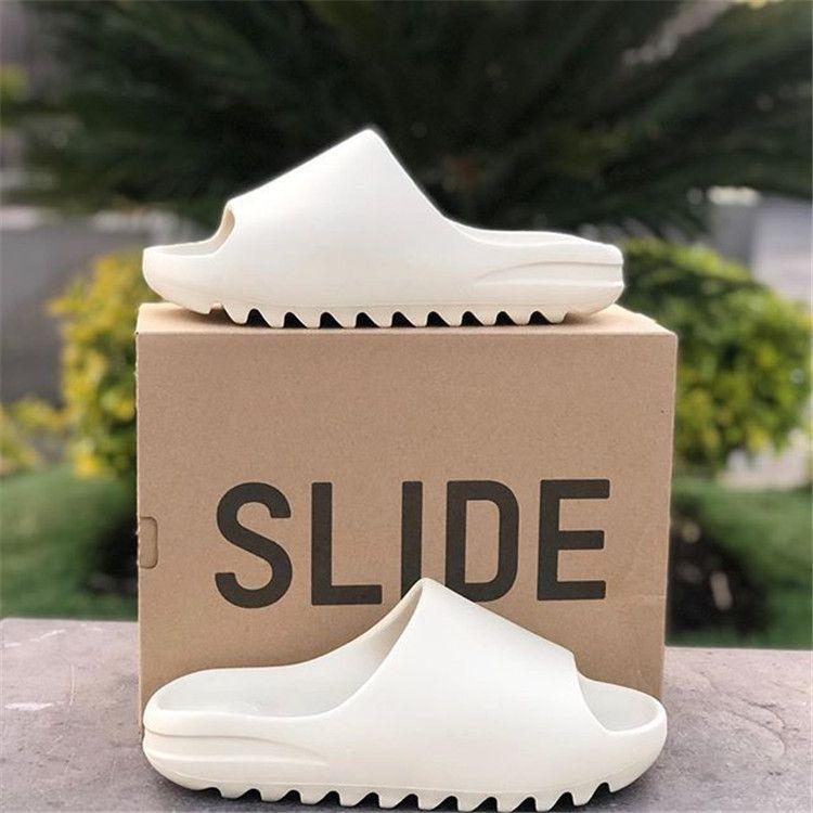 kanye homens slides mulheres do desenhador oeste chinelos hotel óssea areia do deserto Resina Terra Brown moda escorregas mens praia sandálias engrenagem bottoms tamanho 11