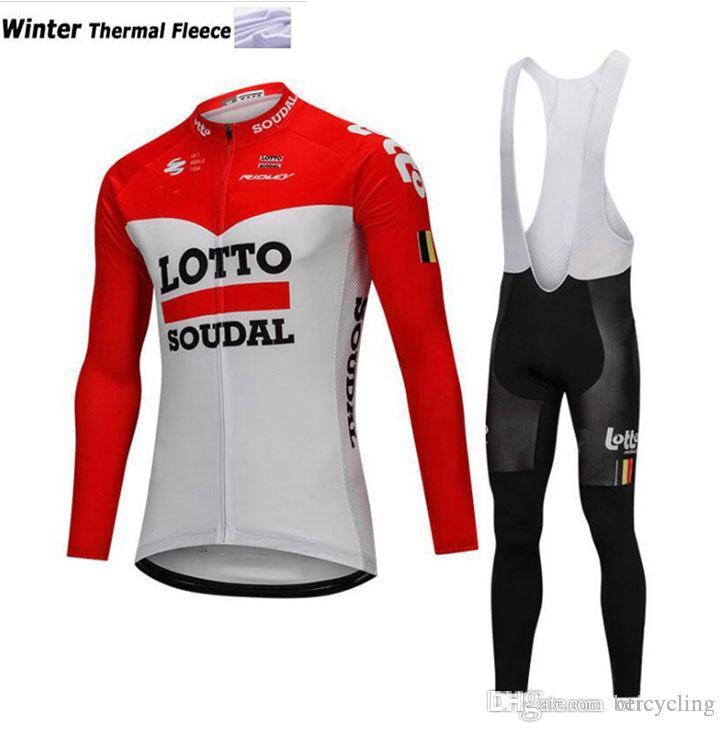 2018 polaire cyclage thermique jersey à manches longues et pantalons de cyclisme vélo Kits Dragonne Ciclismo bicicletas VTT Vêtements de sport B18110502