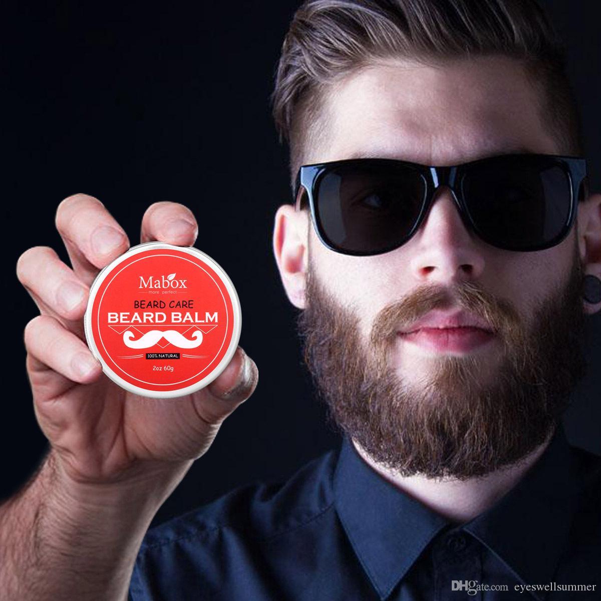 Mabox Beard Oil & Balm Moustache Wax Beard Grooming Conditioner لحية بلسم للتصفيف والترطيب