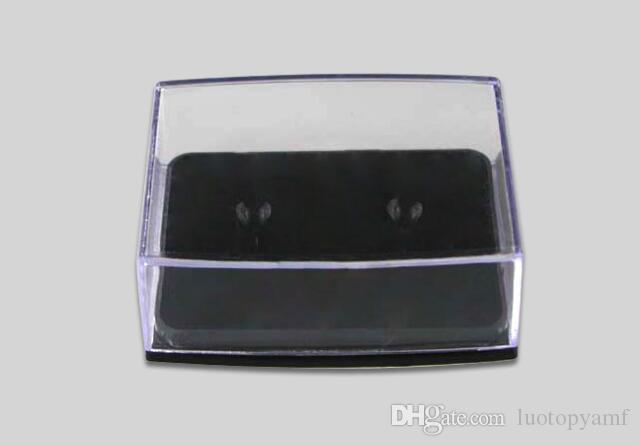 Wholesale 200pcs/lot Transparent Plastic Cuff Links Box Gift Box Cufflinks Display Holder Storage Carrying Case