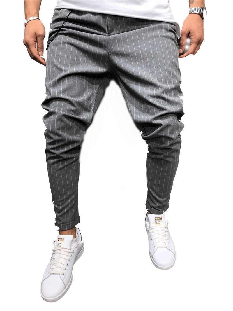 Designer Pantalons Hommes rayé Hip Hop Pantalons Printemps AutumnHop Trou en vrac Brief Causaul Pantalons Hommes