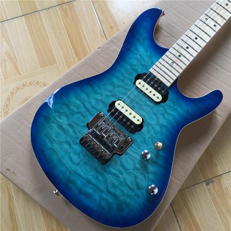 Usine Hot vente Maple Fingerboard Bleu Burst Guitare électrique avec tremolo système