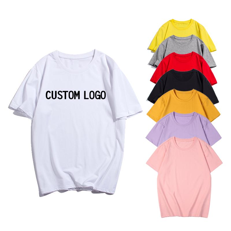 E-백회 (Baihui) (1) 사용자 정의 로고 무료 티셔츠 코튼 디자인 남성 순수한 컬러 라운드 넥 반소매 로고 무료 DIY 인쇄 된 티셔츠 T-0092