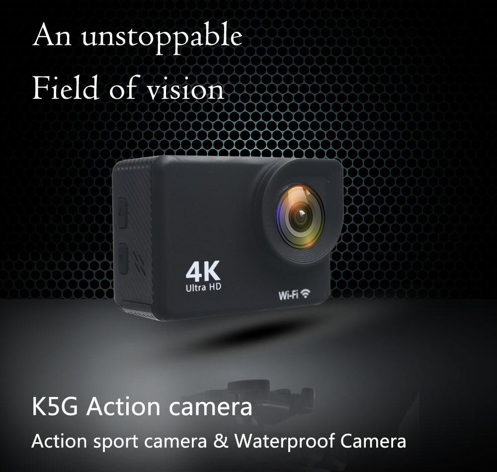 K5G عمل الكاميرا PK SJ4000 للماء 30M HD 4K الرياضة كاميرا 2.0 بوصة بتقنية LCD 140 درجة زاوية واسعة عدسة الكاميرا في الهواء الطلق 1PCS