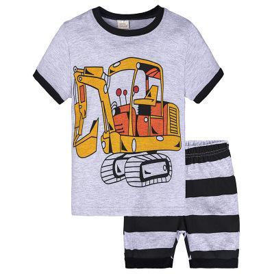 Детские моды Pajamas мальчики девочек летом случайные спящие носить детей тренды животных полосатый напечатанный мультфильм две части пижамы наборы 10 стилей