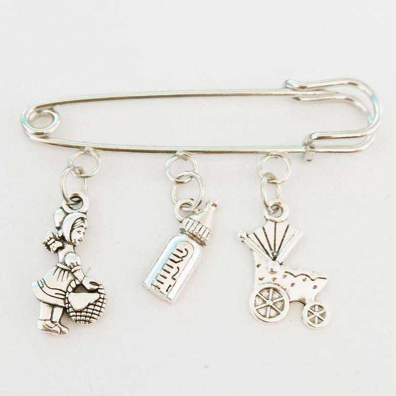 Fashion Alloy Jewelry Accessories New Of Mother Gift Charm Brooch, Mother Charm Gift, Bottle, Baby Carriage Jewelry Diy Handmade