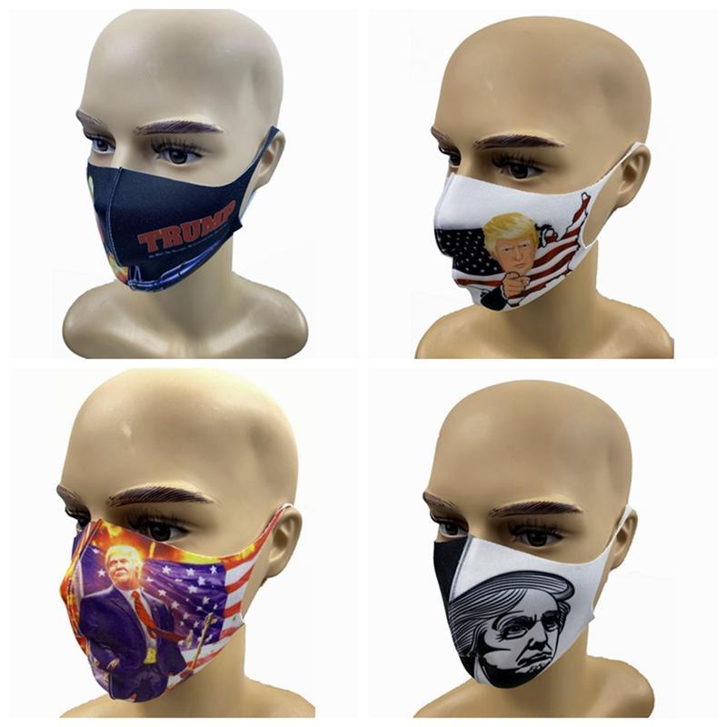 트럼프 얼굴은 방풍과 방진 마스크 폴리 에스테르 빨 재사용 방진 마스크 보호 최소 배치 100PCS / 스타일 HHA1271 마스크