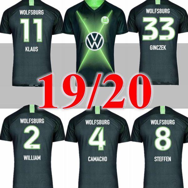 2019 2020 VfL Wolfsburg WEGHORS Futbol Formaları 19 20 ev sahibi futbol forması GINCZEK MEHMEDI NMECHA ROUSSILLON ARNOLD maillots de foot
