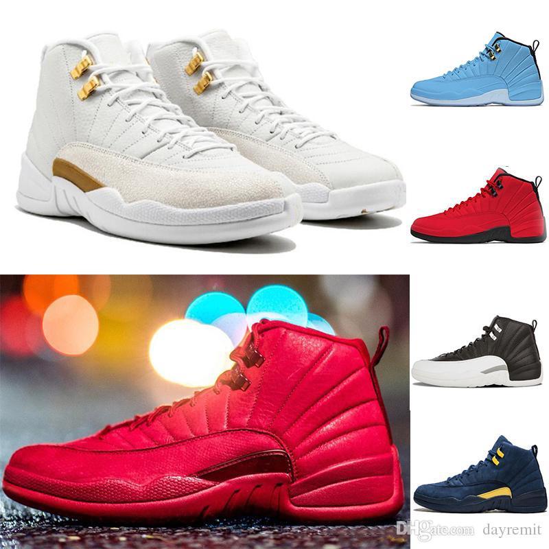 Jumpman di pallacanestro 12 XII scarpe firmate Ali Sports CNY TAXI Playoff Flu gioco scarpe da corsa per Uomo Donna formatori scarpe da tennis