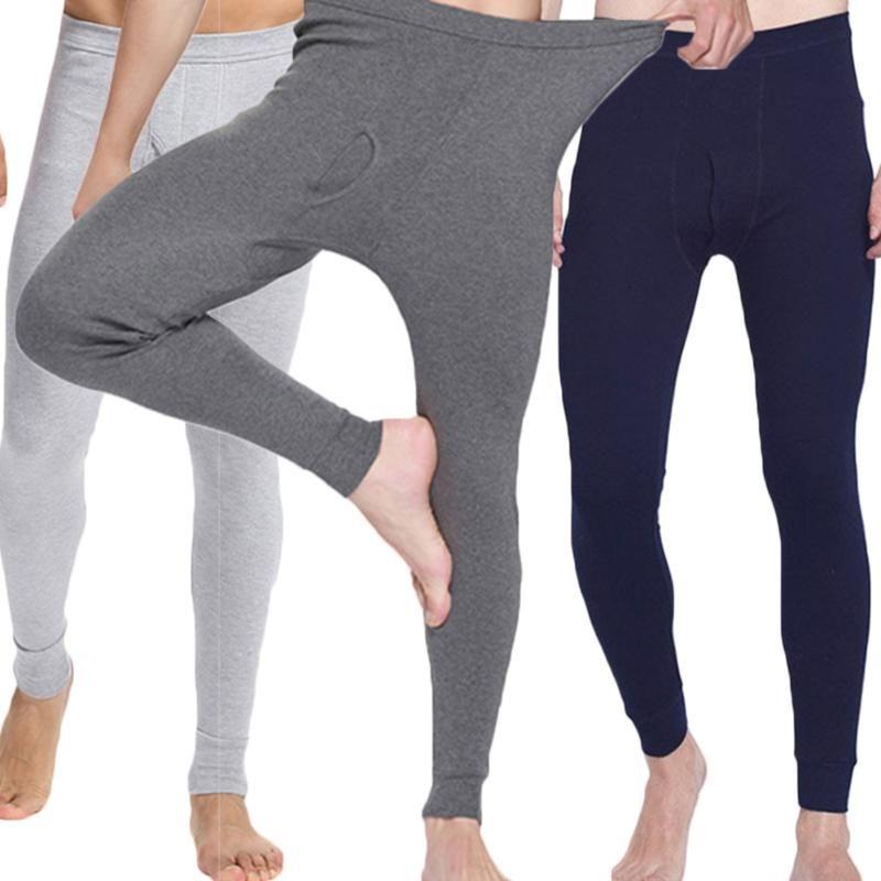 2018 Hot Sale Winter Men Long Johns 100% Cotton Thermal Underwear Men Warm Long Johns Underwear Pants