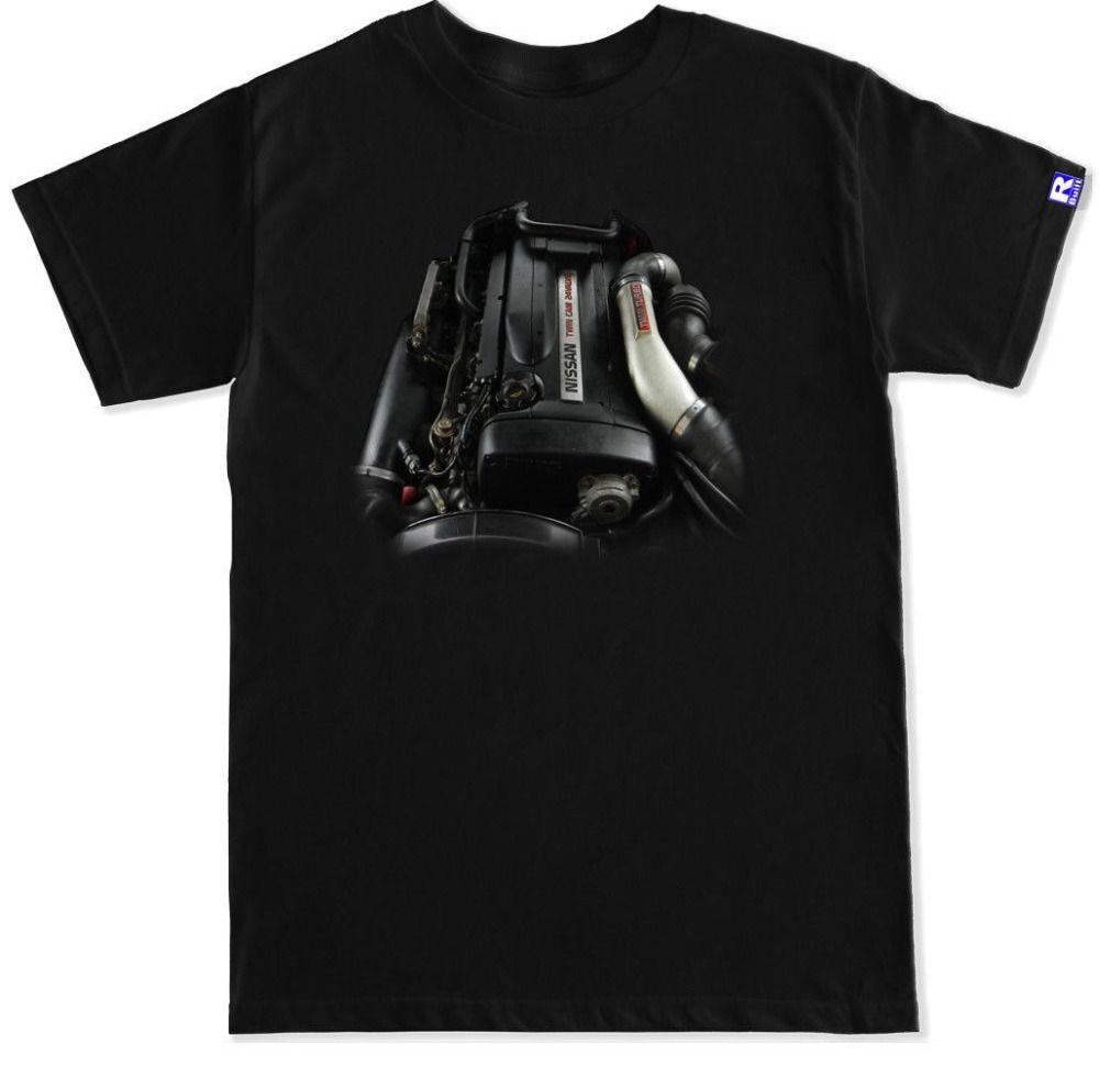 Novità 2019 Maglietta Uomo Niss Gtr Skyline R32 R33 R34 Rb26 Motor Engine Swap Badge Turbo T Shirt