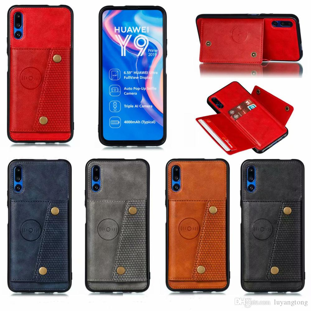En cuir pour Huawei Honor Y9 Prime 2019 9X P Smart Z Maté 30 P30 Pro Lite P30 Wallet Pro titulaire de la carte de crédit