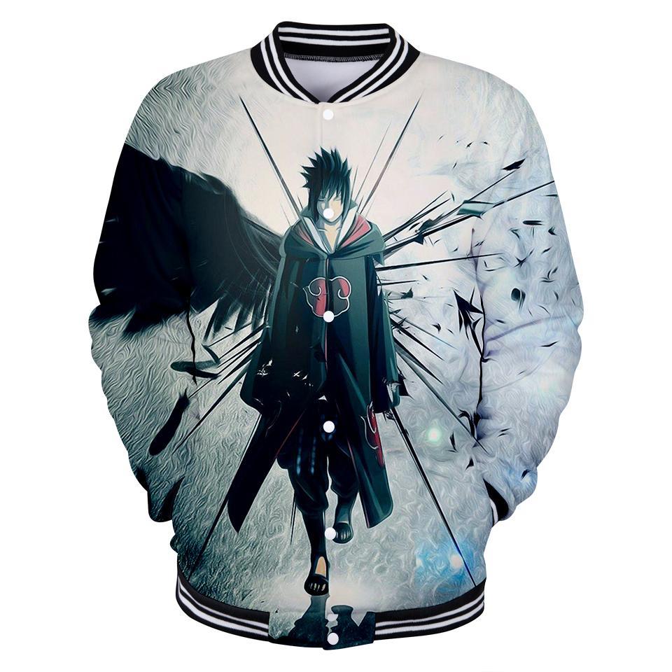 2019 hot sale Naruto Baseball Sweatshirt Anmie spring autumn Harajuku Baseball Jacket Long Sleeve Mens Plus Size
